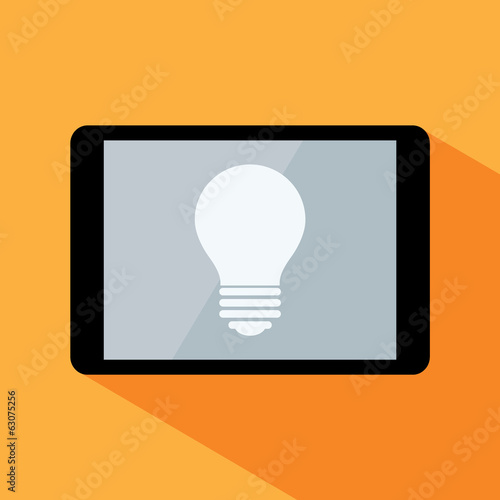 tablet with lightbulb