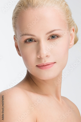 young beautiful caucasian woman