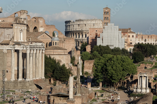 View of Foro Romano Rome