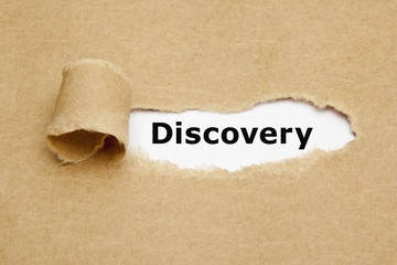 Discovery Torn Paper Concept