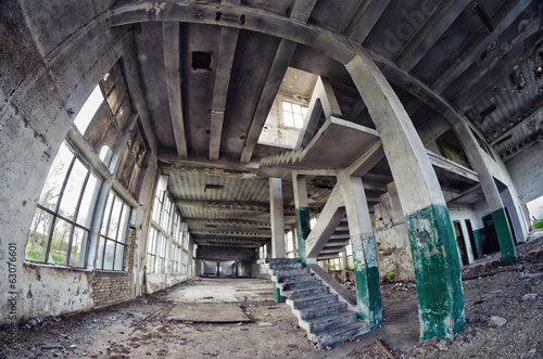 Spooky abandoned factory