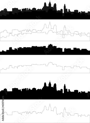 silhouette of city in black interpretation part 2