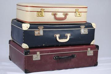Ouderwetse koffers voor de verre ontdekkingsreis