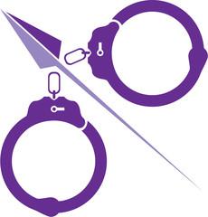 Cut handcuffs