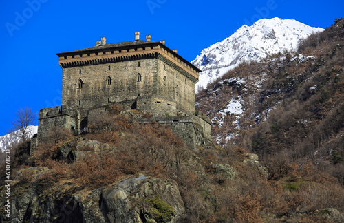 Verres Castle, Aosta Valley, Northern Italy (ITA)