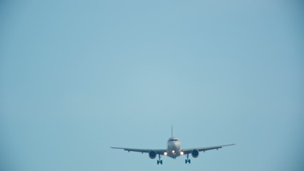 an airplane landing at barcelona airport