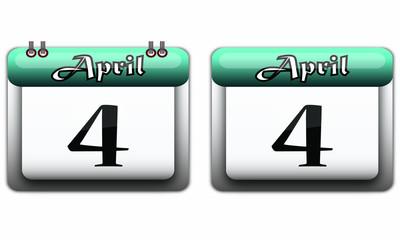4 April turquoise