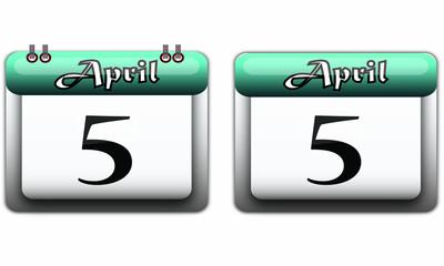5 April turquoise