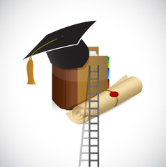 ladder to a better education. illustration design