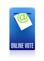 online vote concept illustration design