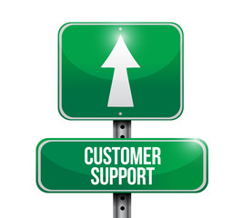 customer support signpost. illustration design