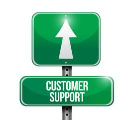 customer support signpost. illustration design