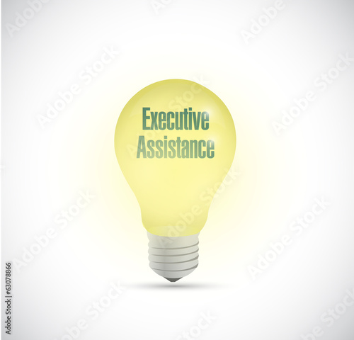 executive assistance light bulb illustration