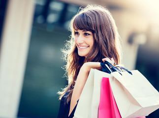 Happy Woman Shopping