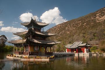 Black Dragon Pool in Lijiang,Yunnan in Southwestern of China.