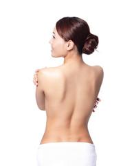 beautiful woman back view