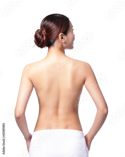 beautiful woman back view