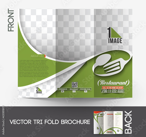Restaurant & Hotel Tri-Fold Mock up & Brochure Design