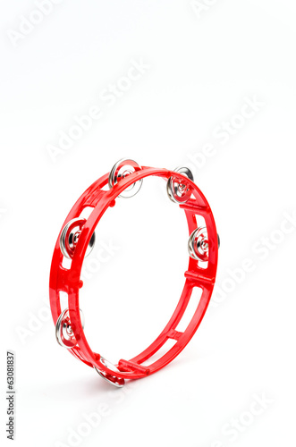 Isolated tambourine