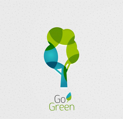 Eco Tree Abstract Shape Design