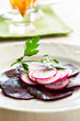 Beetroot radish carpaccio