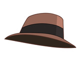 hat isolated illustration
