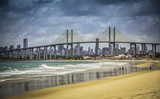 City of Natal beach with Navarro Bridge, Brazil - Fine Art prints