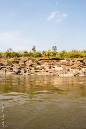 Stone at Kong River, Sampanbok Ubonratchathani Thailand