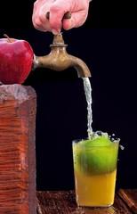 Zumo de manzana.