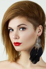 Beauty portrait of ginger girl