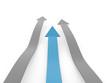 Blue business arrow concept