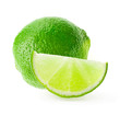 Citrus lime fruit isolated on white