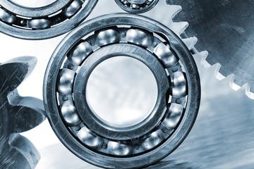 titanium and steel gears and ball-bearings