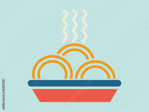 Flat Food Illustration. Vector Illustration EPS 10.