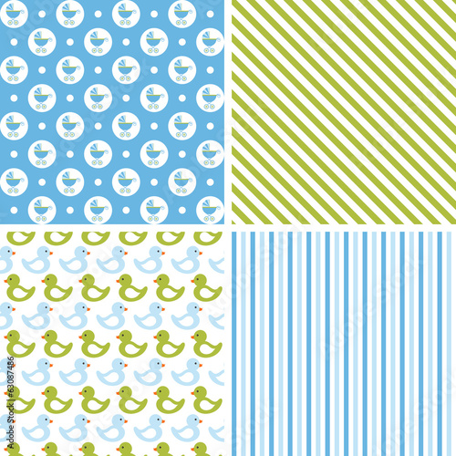 Baby boy seamless patterns