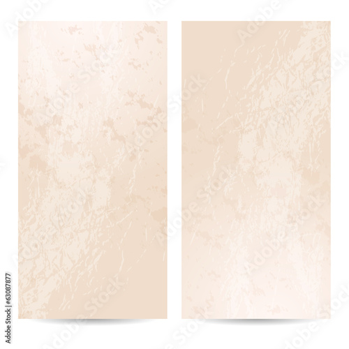 Template vertical banner, grungy background, old paper