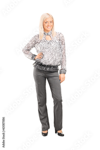 Woman in fashionable clothes