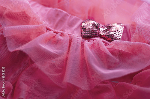 Organza fabric with ribbon  sequins