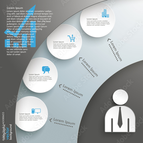 Cutting Circle Background Infographic 4 Circles