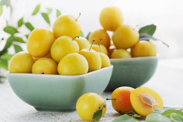 yellow plums, summer still life