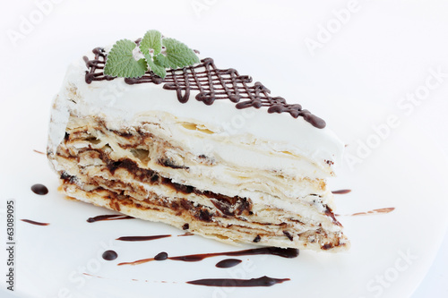 napoleon cake and mint