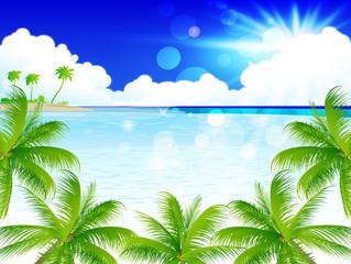 海 ヤシ 風景