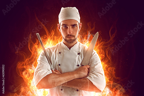 canvas print picture Cook Hero