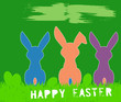 easter bunny, easter illustration, free copy space