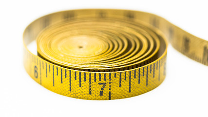 Vintage yellow measuring tape