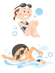 水泳 男女
