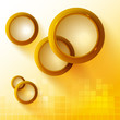 Abstract background with golden circles