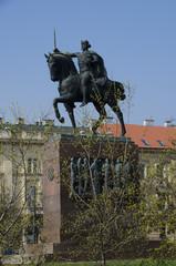 king tomislav statue, zagreb