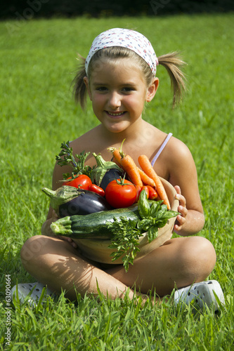 Child and Vegetables