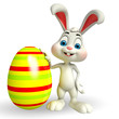 cute easter bunny with colorfull egg